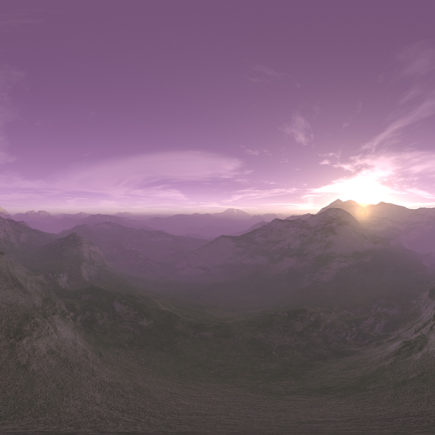 Early Morning Desert Mountains HDRI Sky
