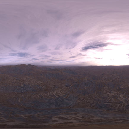 Morning Desert HDRI Sky