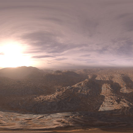 Evening Desert HDRI Sky