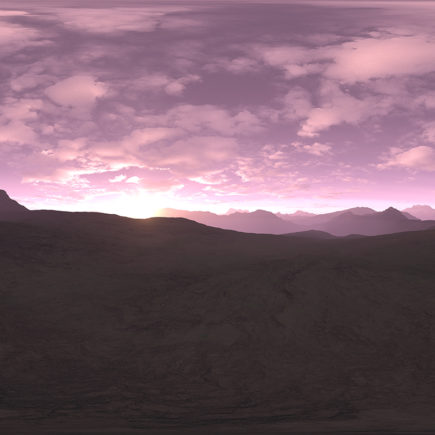 Early Morning Desert HDRI Sky
