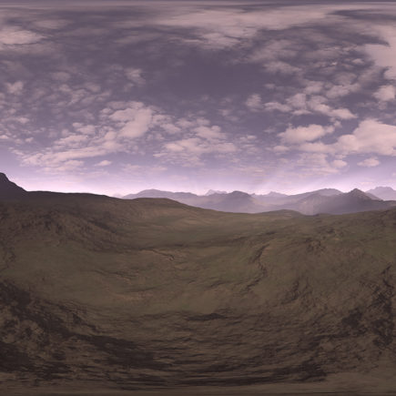 Early Evening Desert HDRI Sky