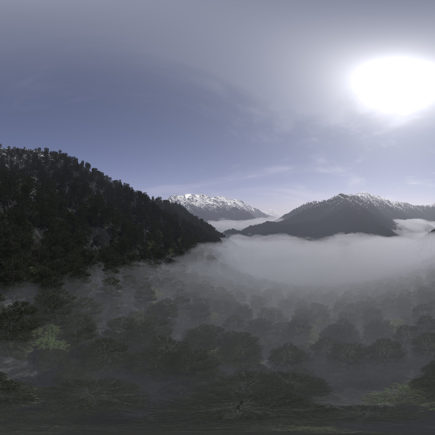 Noon Mountain Forest HDRI Sky
