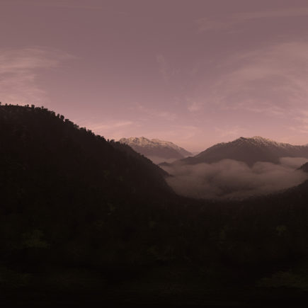 Late Evening Mountain Forest HDRI Sky