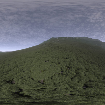Late Afternoon Hill HDRI Sky