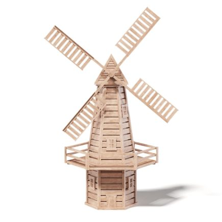 Windmill Miniature 3D Model
