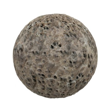 Brown Rock with Holes PBR Texture
