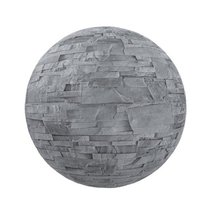 Grey Stone Brick Wall PBR Texture