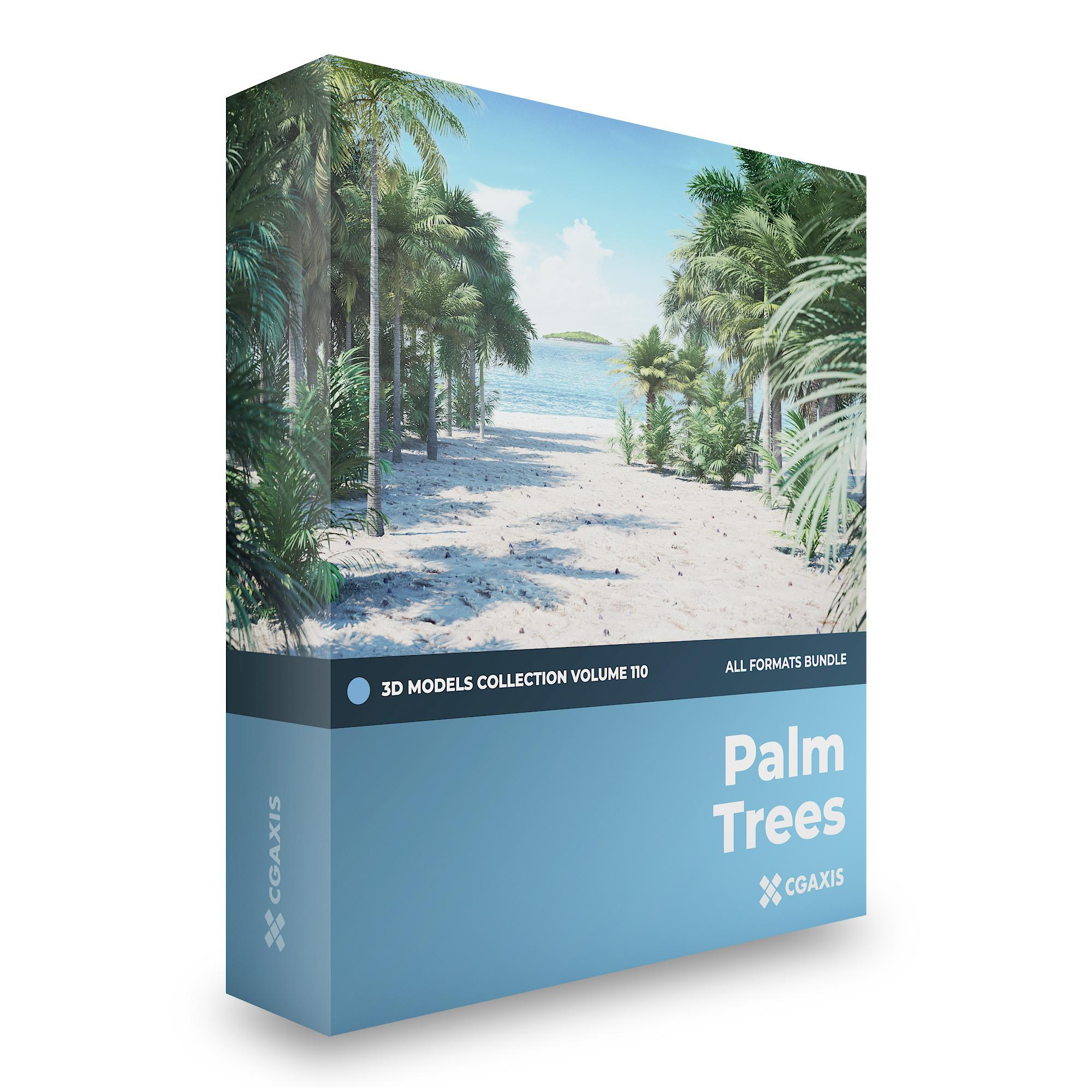 Palm Trees 3D Models Collection Volume 110 | CGAxis 3D