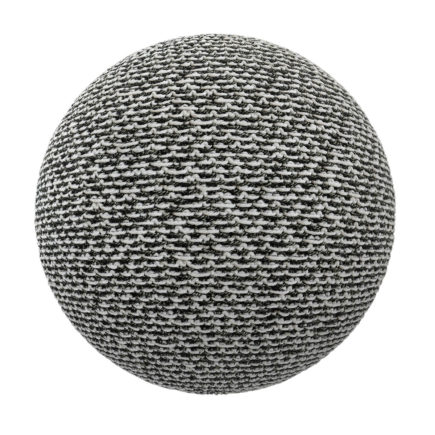 Black and White Fabric PBR Texture