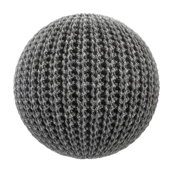 Black Wool Fabric PBR Texture