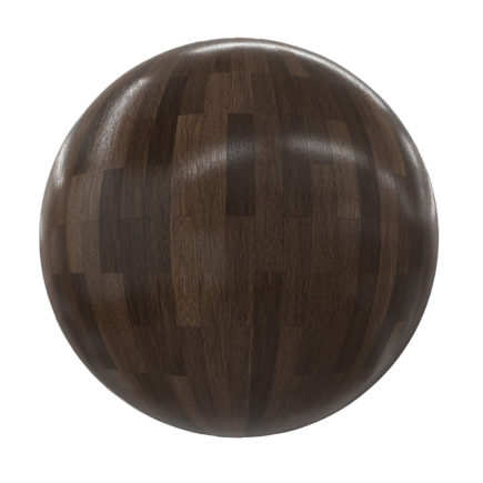 Dark Shiny Old Wood Tiles PBR Texture