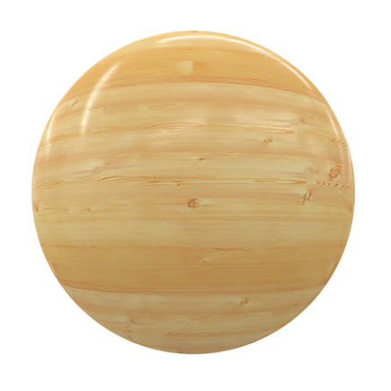 Light Shiny Wood PBR Texture