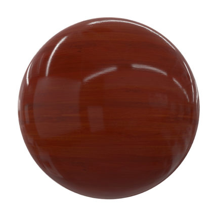 Red Shiny Wood PBR Texture