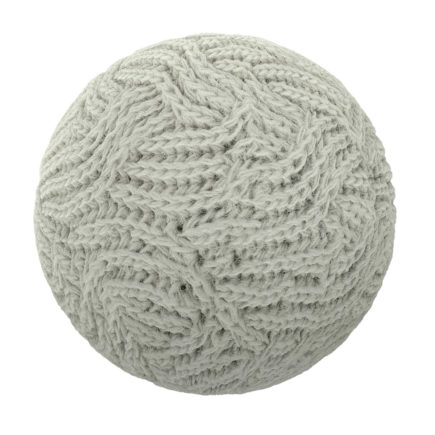 White Wool Fabric PBR Texture