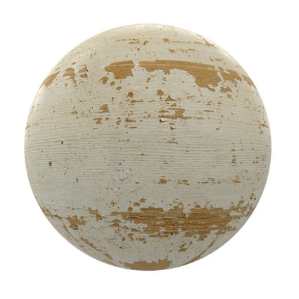 Worn Painted Wood PBR Texture