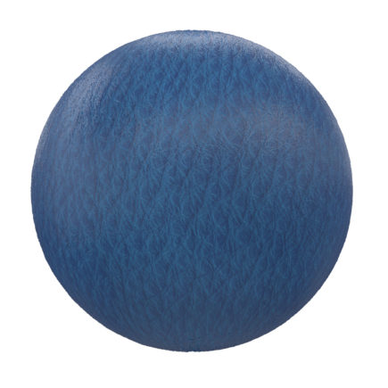 Blue Leather PBR Texture