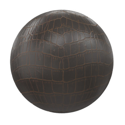 Brown and Black Leather PBR Texture