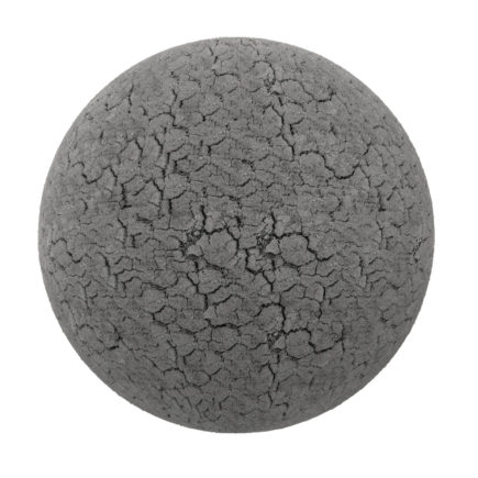 Grey Dry Cracked Dirt PBR Texture