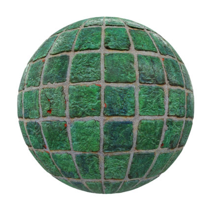 Old Green Tiles PBR Texture