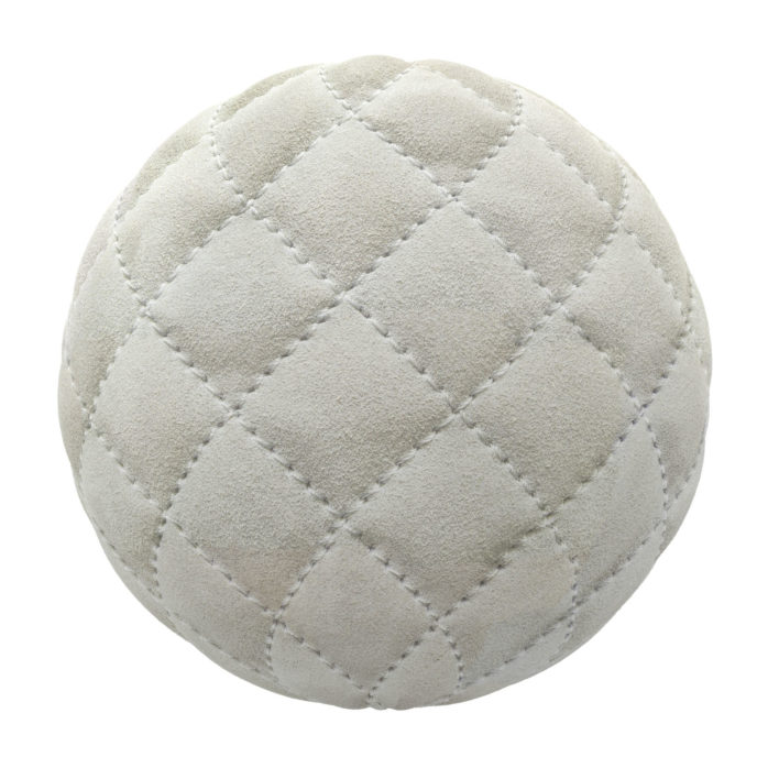 Quilted White Suede PBR Texture