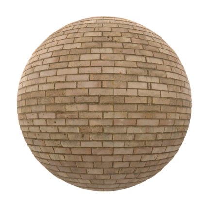 Yellow Brick Wall PBR Texture