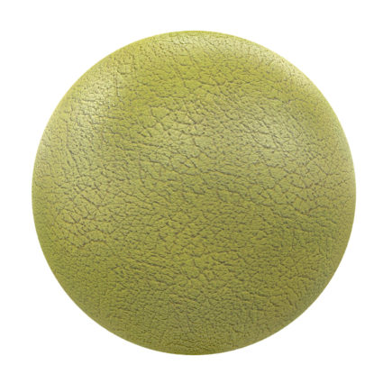Yellow Leather PBR Texture