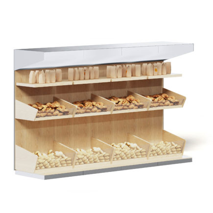 Market Shelf 3D Model - Buns