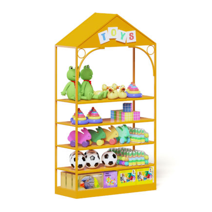 Market Shelf 3D Model - Toys
