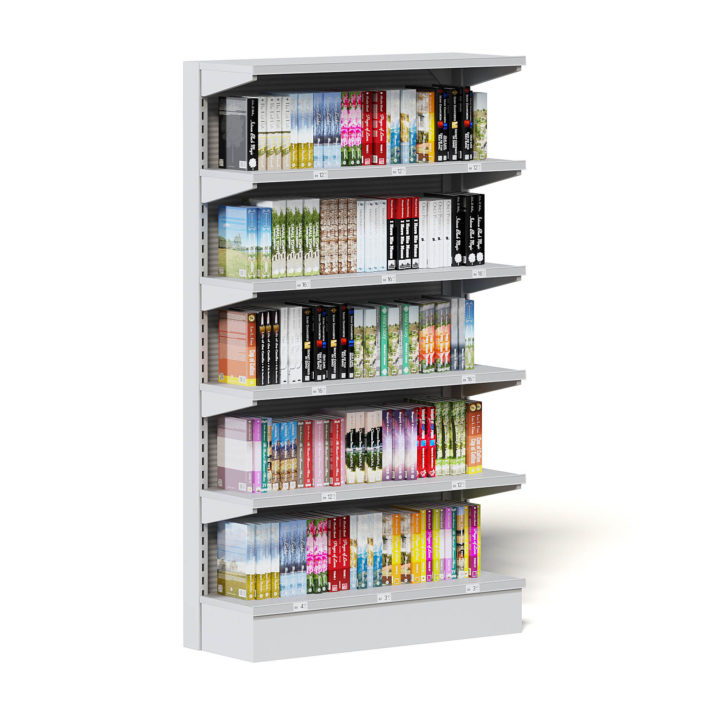 Market Shelf 3D Model - Books
