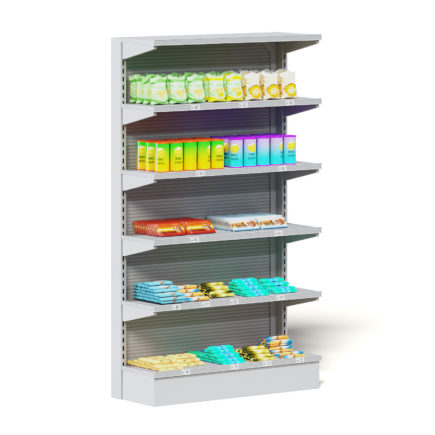 Market Shelf 3D Model - Snacks