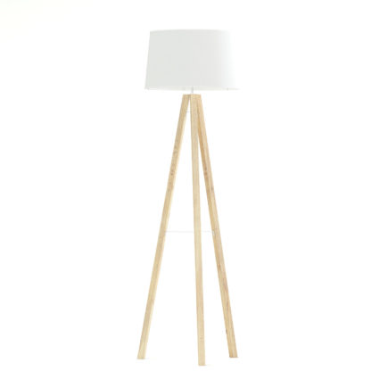 Wooden Floor Lamp 3D Model
