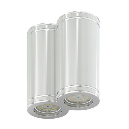 Double White Cylindrical Light 3D Model