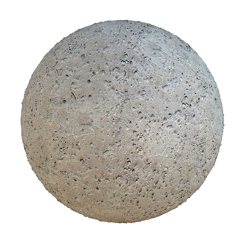 Grey Concrete with Rocks PBR Texture