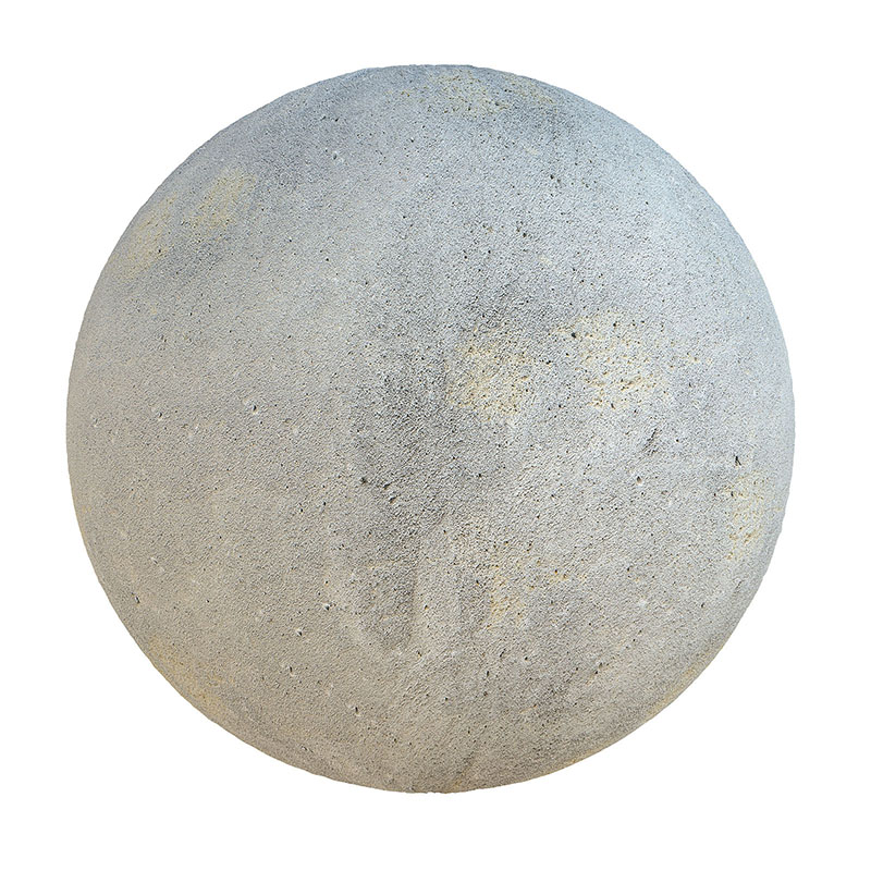 Grey Concrete with Stains PBR Texture