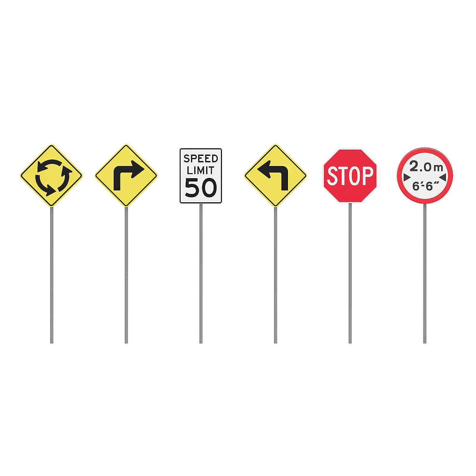 Traffic Signs 3D Model CGAxis 3D Models Store