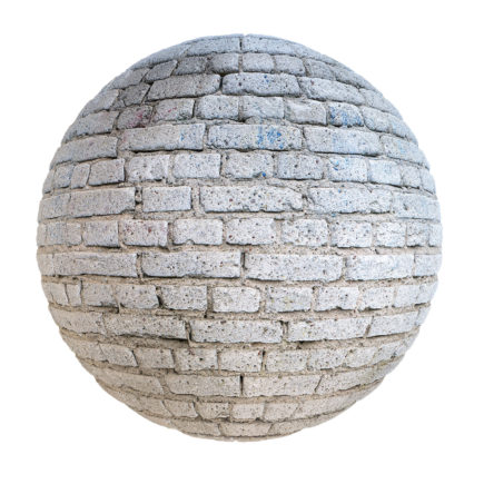 Grey Brick Wall PBR Texture