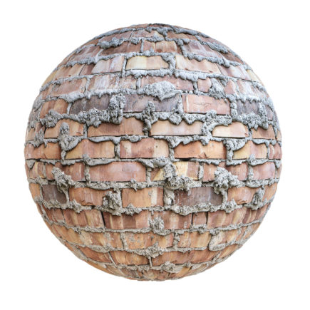 Old Brick Wall with Cement PBR Texture