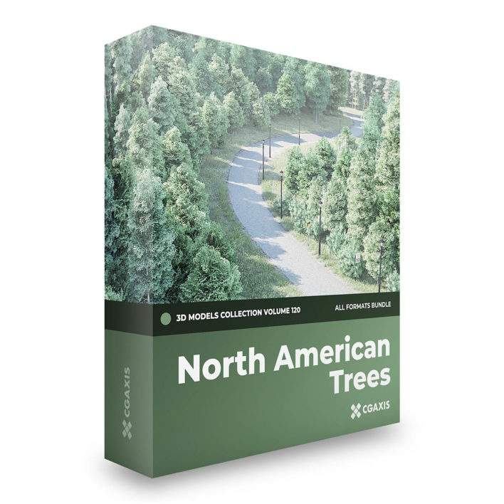 north american trees 3d models