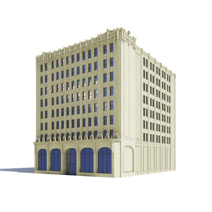 Library Building 3D Model