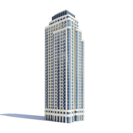 Tall Apartment Building 3D Model