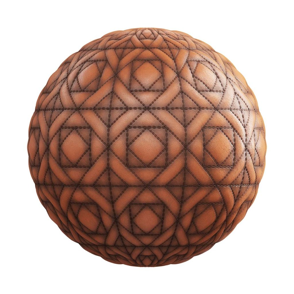 quilted brown leather pbr texture